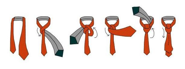 Схема как вязать галстук